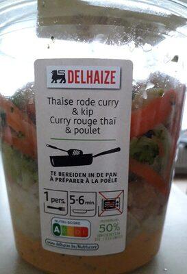 Curry rouge thai & poulet - Produit