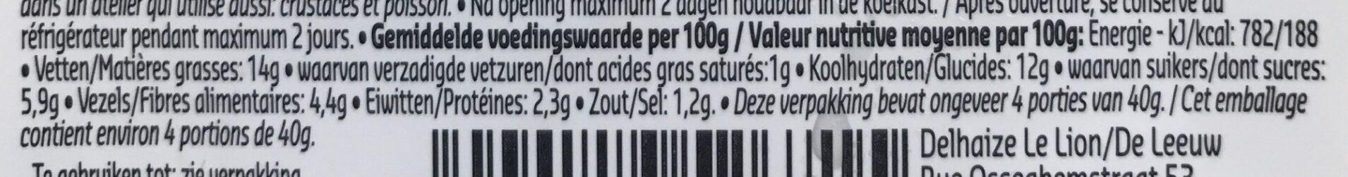 Quinoa salade au curry veggie - Voedingswaarden
