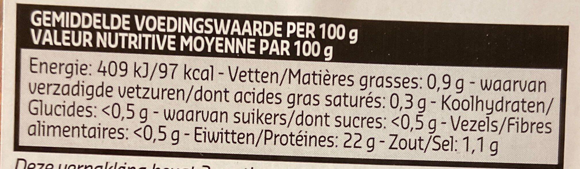 Gambas cuites - Voedingswaarden - fr