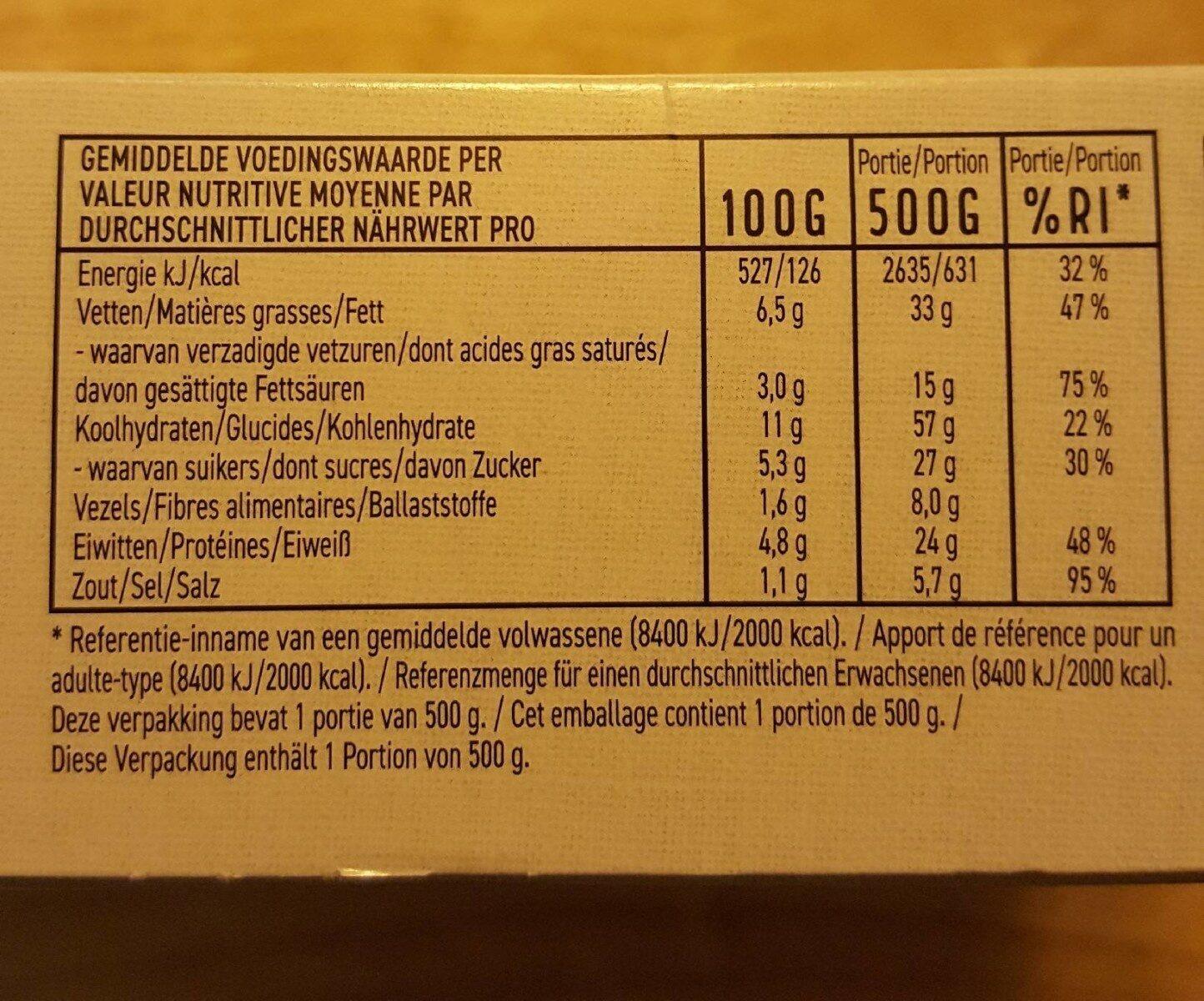Ragoût boeuf poivre à queue - Voedingswaarden - fr