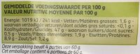 Pistolets d'épautre - Informations nutritionnelles - fr