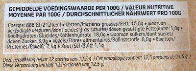Falafel tomate basilic - Voedingswaarden - fr