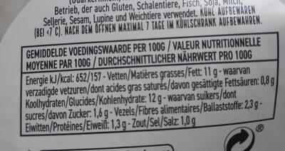 Salade de pommes de terre - Voedingswaarden - be