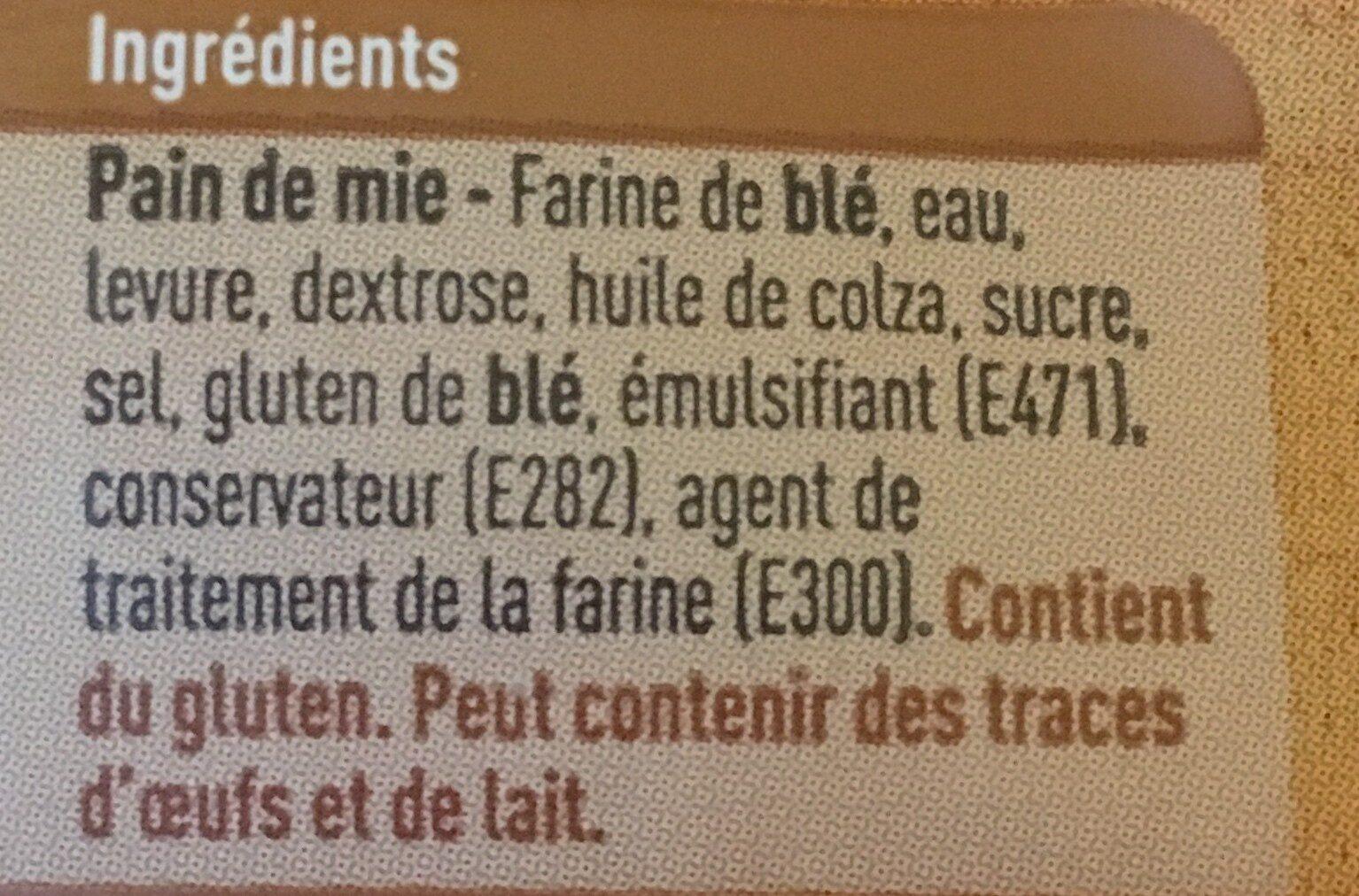 Pain de mie - Ingredientes - fr