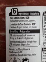 Prosciutto du San Daniele - Ingrédients - fr