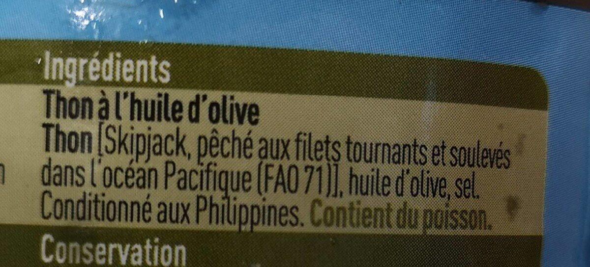Thon à l'huile d'olive - Ingrédients - fr