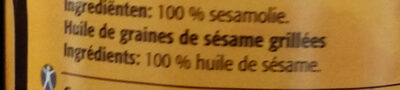 Huile de sesames - Ingredients - fr