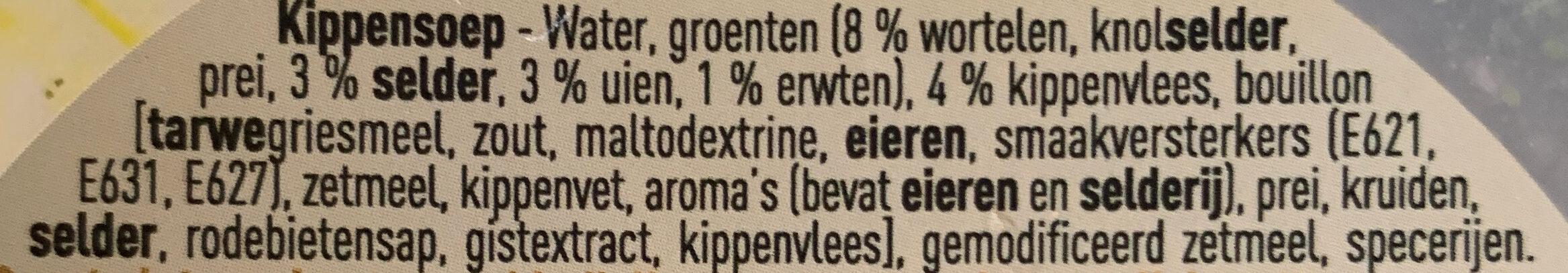 Soupe au poulet - Ingrediënten - nl