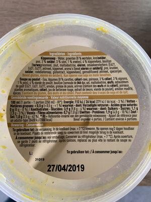 Soupe au poulet - Voedingswaarden - fr