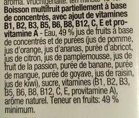 Nectar multivitamines - multifruits - Ingrediënten