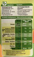 Boni Bio jus d'orange - Informations nutritionnelles - fr