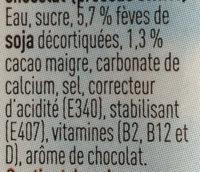 Boisson soja chocolat - Ingrediënten - fr
