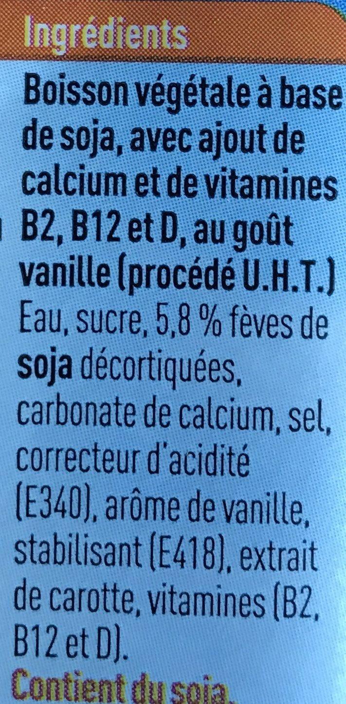 Boisson au soja goût vanille - Ingrediënten - fr