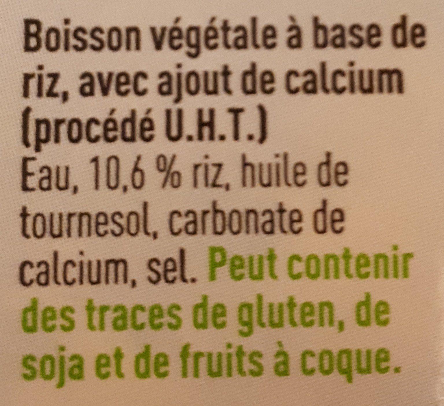 Boisson au riz - Ingrediënten - fr