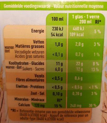 Boisson au riz - Voedingswaarden