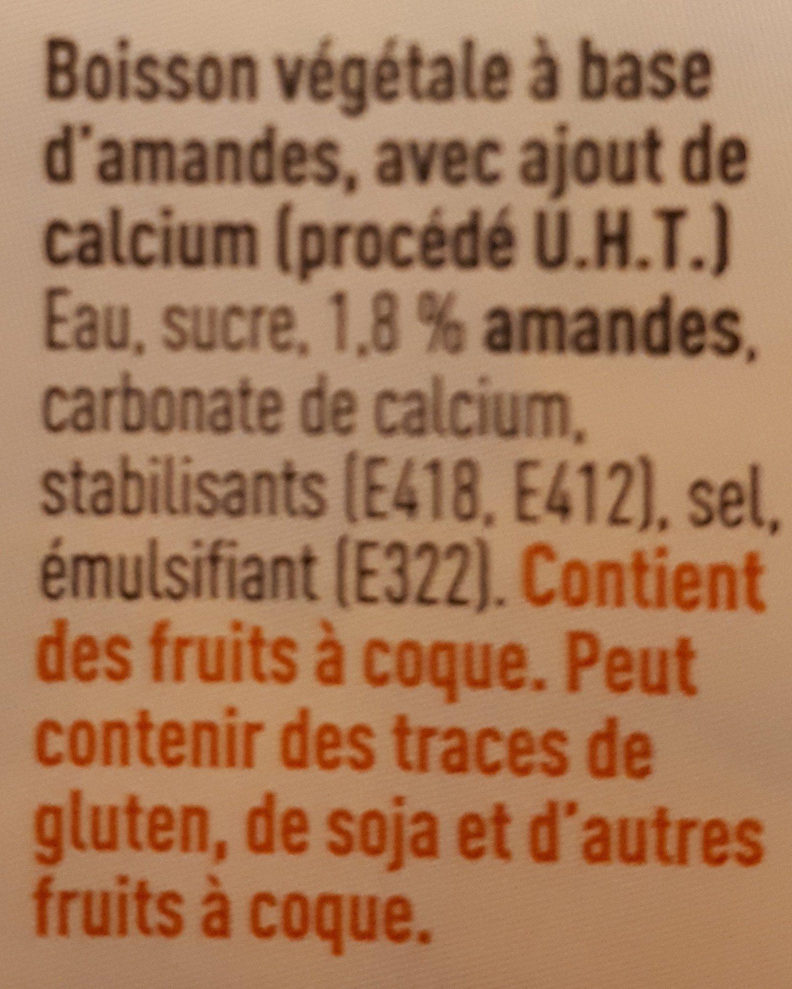 Boissons aux amandes - Ingrediënten
