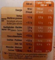 Boissons aux amandes - Voedingswaarden