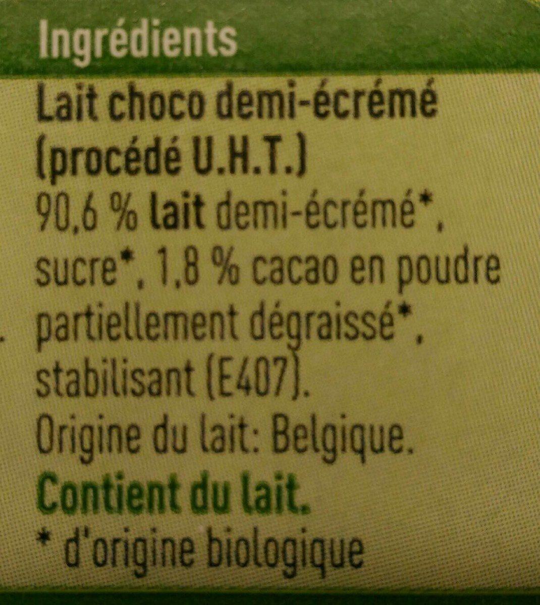 Lait chocolat bio - Ingrediënten
