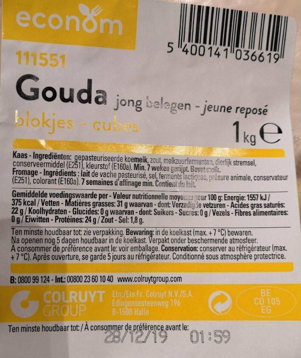 Gouda jeune reposé - Voedingswaarden - fr