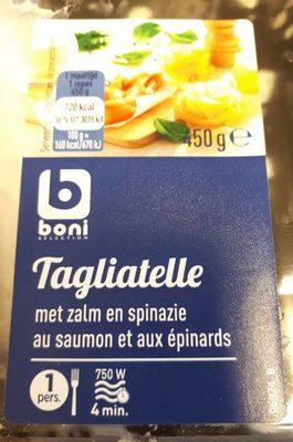 Tagliatelle au saumon et epinard - Product - fr