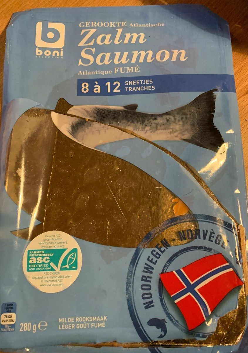 Zalm saumon atlantique fume - Product