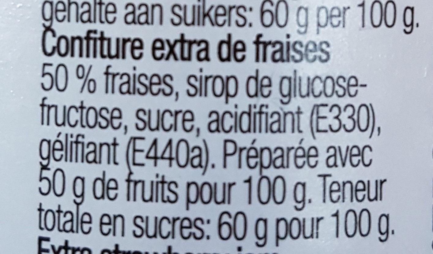 Confiture fraises - Ingredients