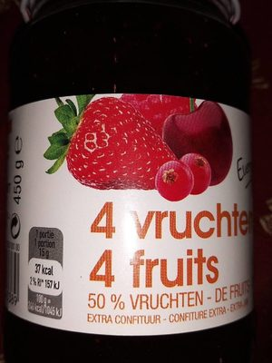 Everyday 4 Vruchten 4 Fruits Jam - Product - fr