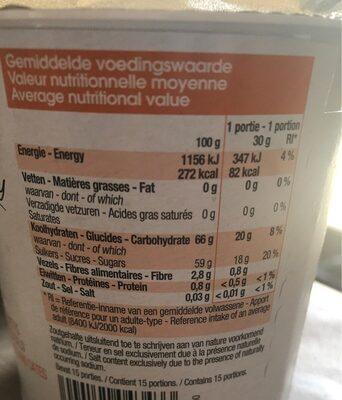 Sirop de poires pommes dattes - Voedingswaarden - fr