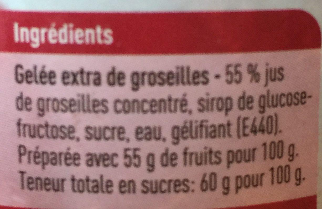 Gelée extra de groseilles - Ingrediënten - fr