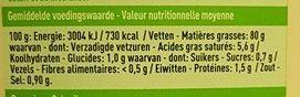 Mayo au citron - Valori nutrizionali - fr