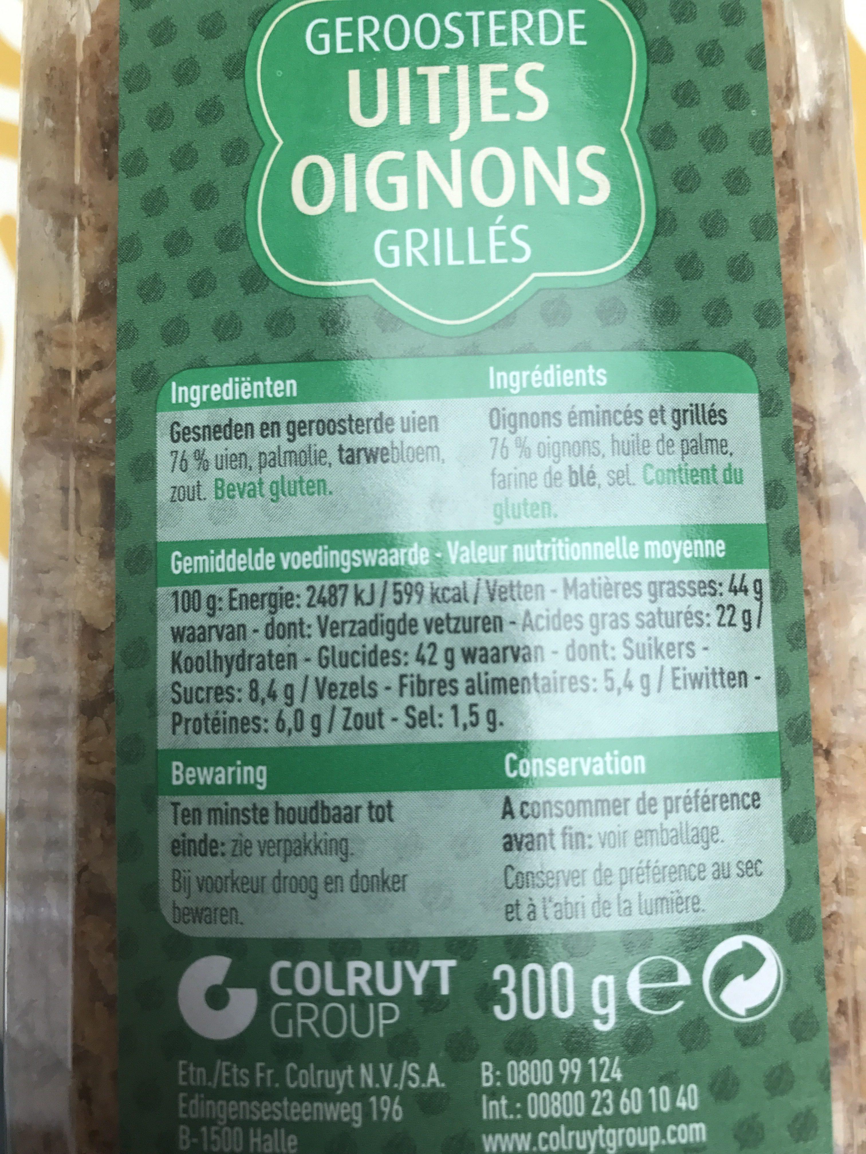 Oignons grillés - Ingrediënten - fr