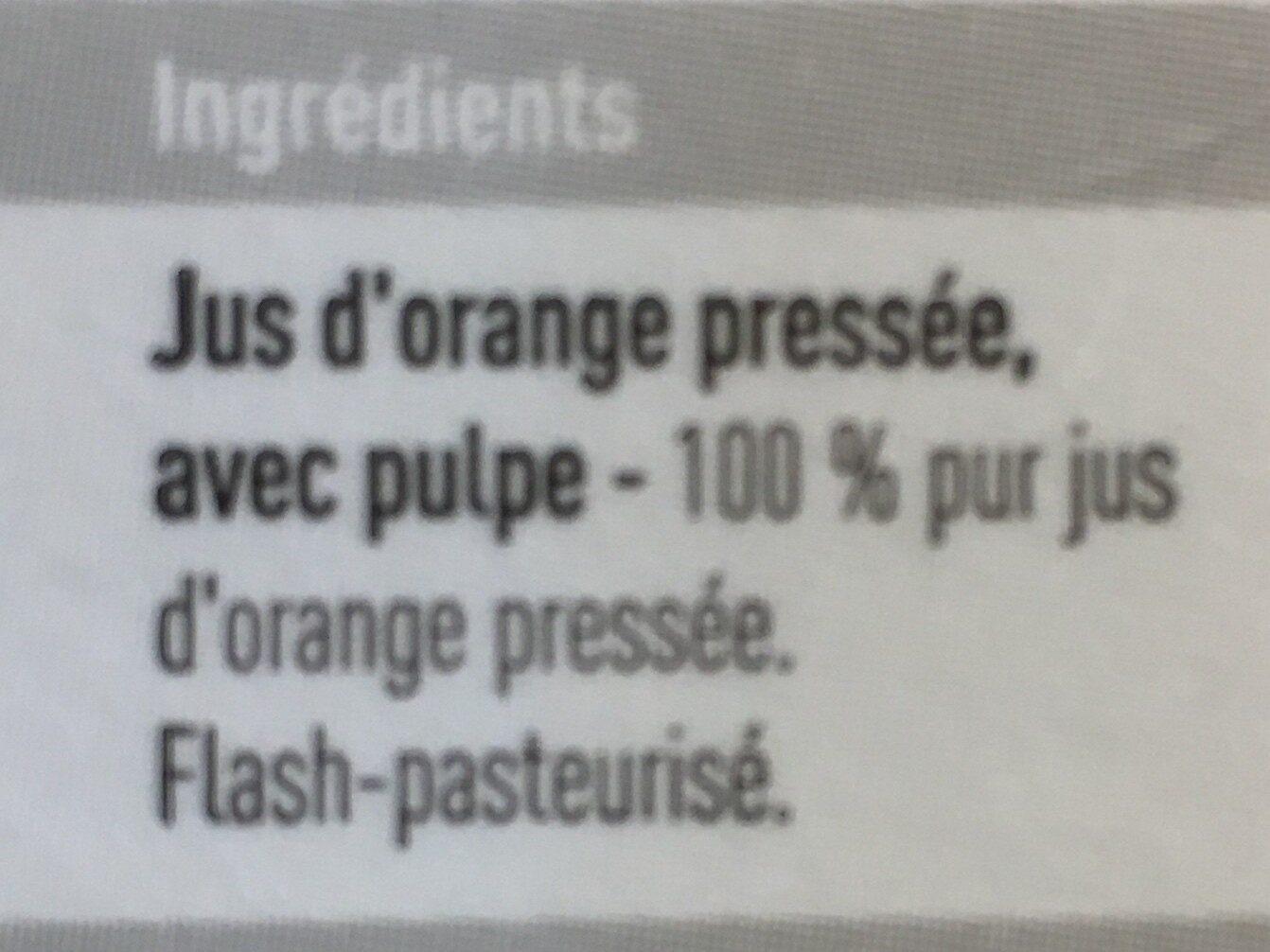 Jus d'oranges - Ingrediënten - fr