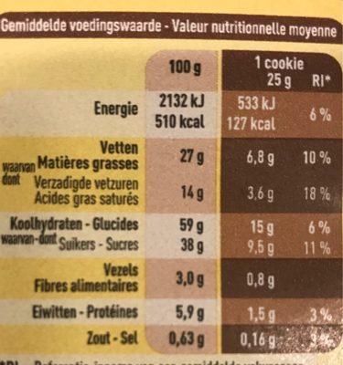 Cookies triple chocolate - Voedingswaarden - fr
