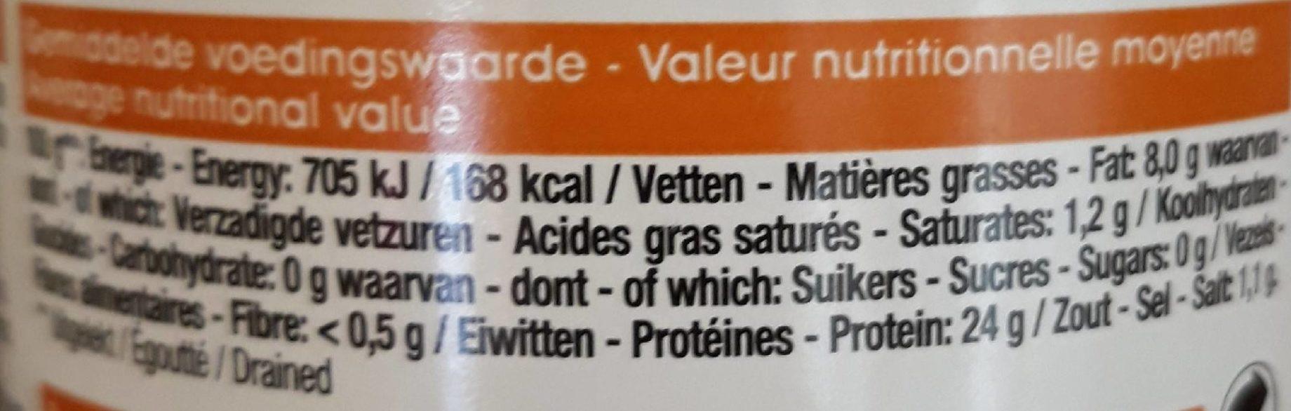 Thon à l'huile de tournesol - Voedingswaarden