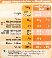 Orangicake - Nutrition facts
