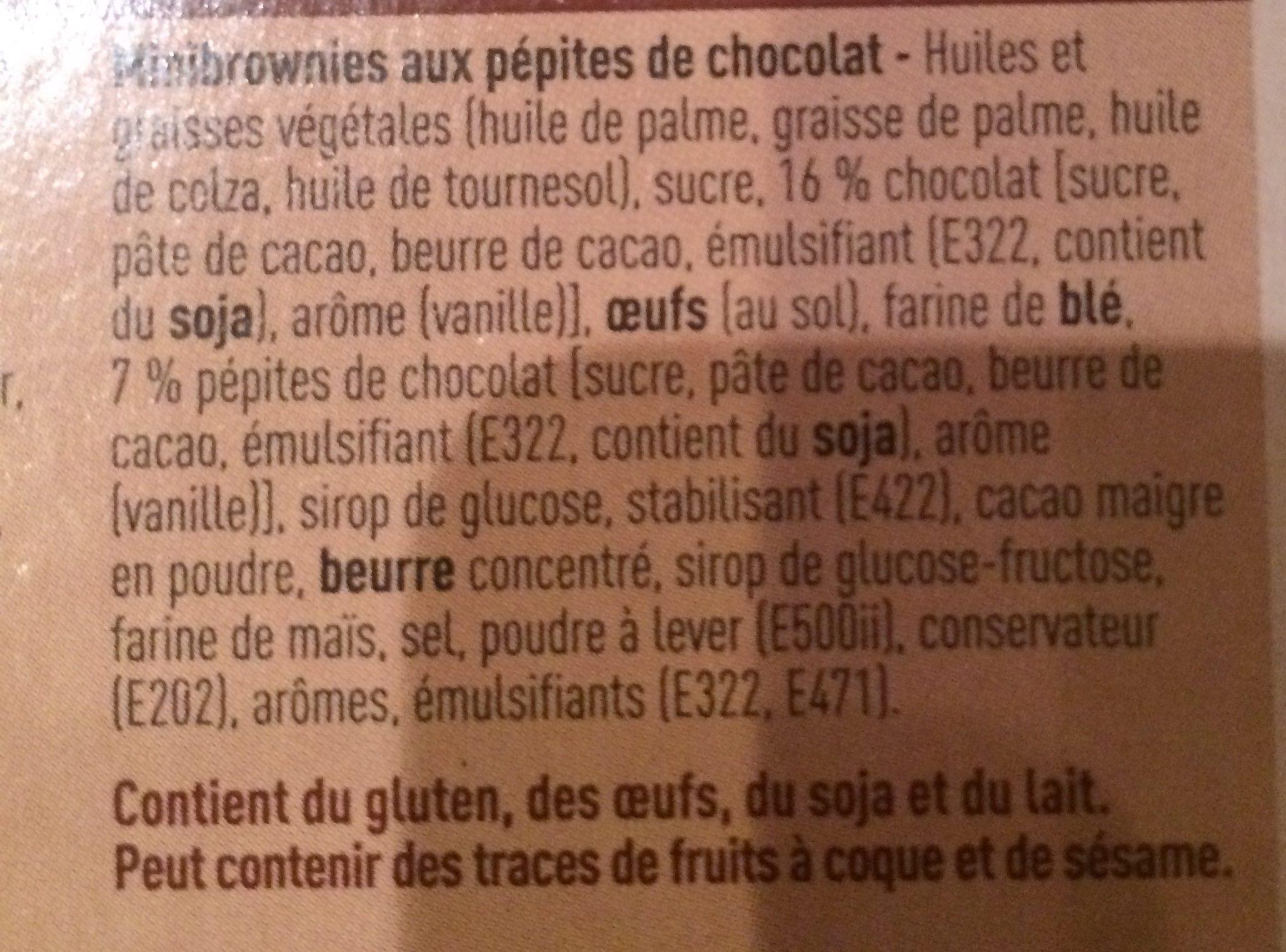 Brownies mini - Ingrediënten - fr