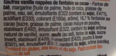 Gaufres Vanille - Cacao - Ingrediënten