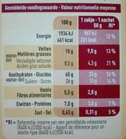 Biscuits Petit-déjeuner au Lait et aux Pépites de Chocolat - Voedingswaarden