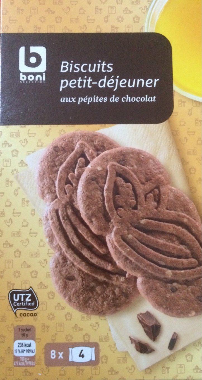 biscuits petit d jeuner aux p pites de chocolat boni 400 g. Black Bedroom Furniture Sets. Home Design Ideas