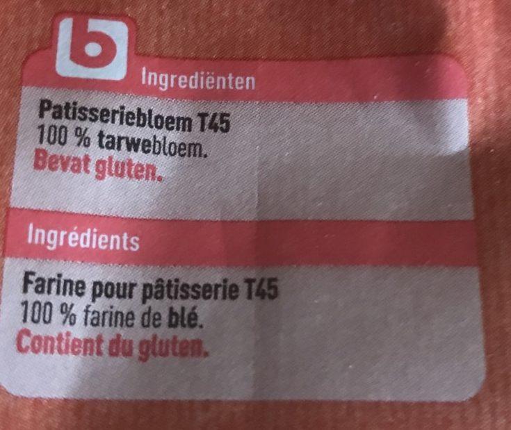 Farine pâtisserie - Ingrediënten - fr