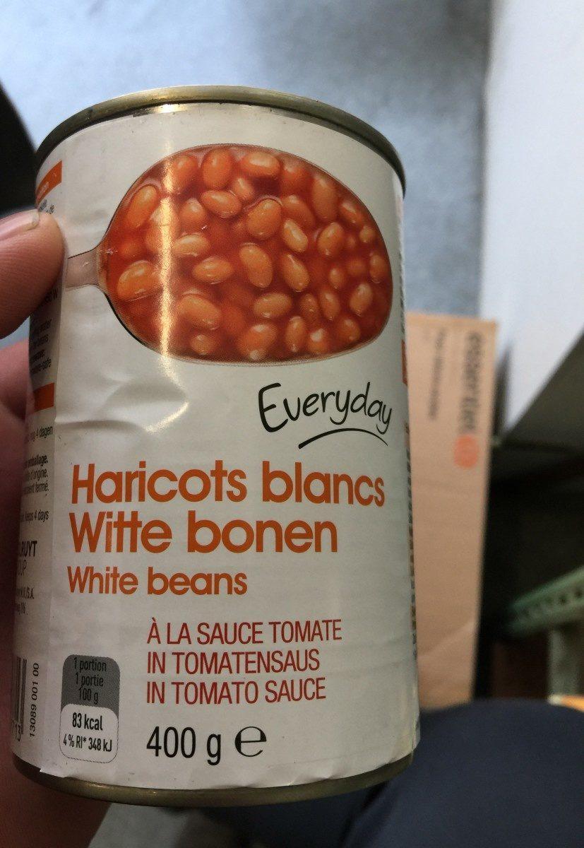 Haricot blancs a la sauce tomate - Produit - fr