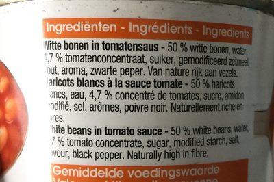 Haricot blancs a la sauce tomate - Ingrédients - fr