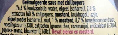 Samourai sauce - Ingrediënten - nl