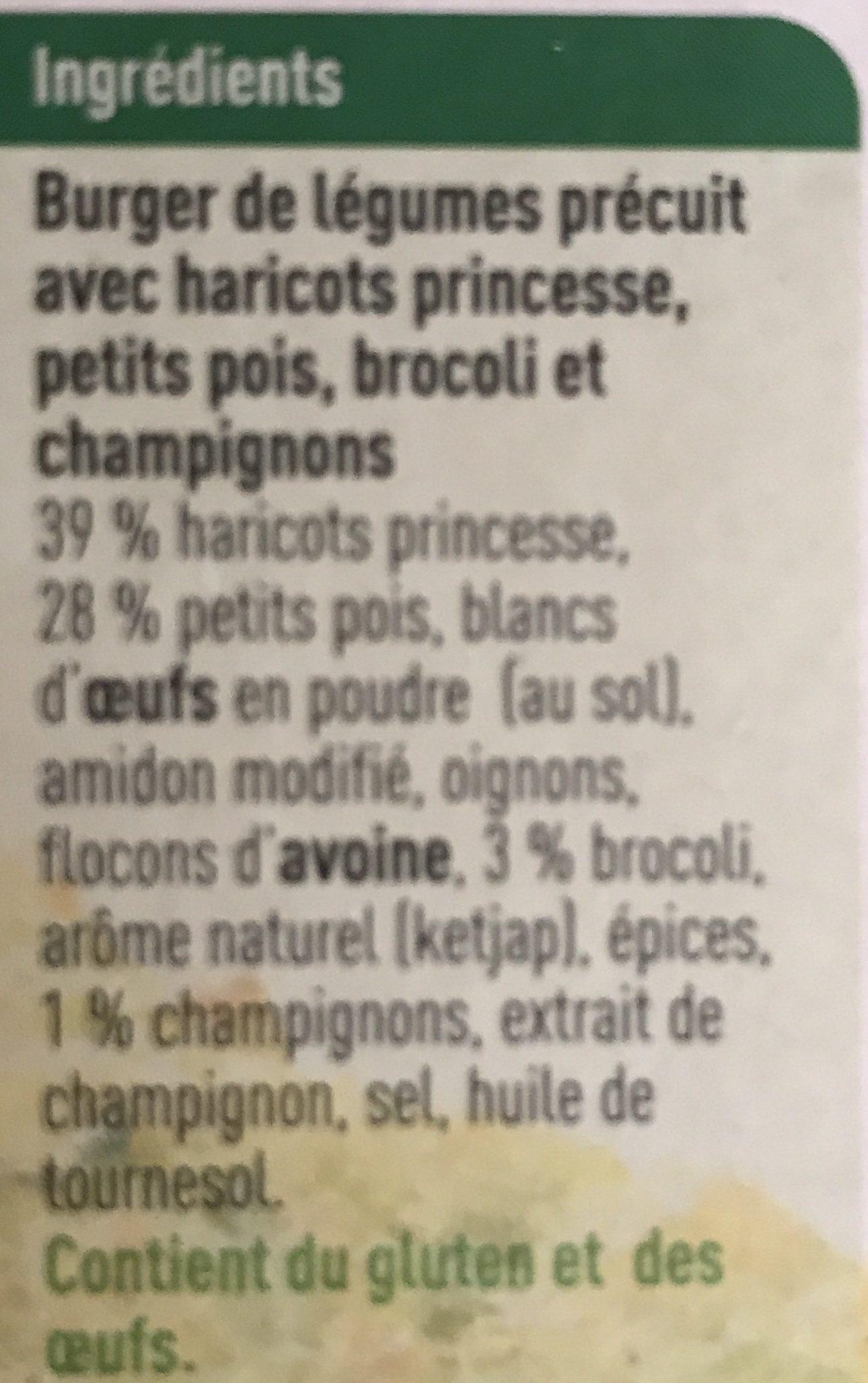 Galette de legumes - Ingrédients - fr