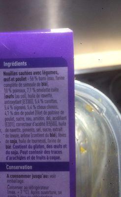 Bami goreng - Ingrediënten - fr