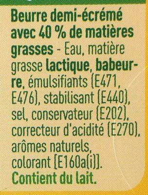 Beurre demi écrémé - Ingredients - fr