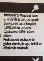 Jambon Magistral à l'os - Ingrediënten - fr