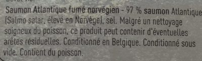 Saumon de l'Atlantique fumé - Ingredients - fr