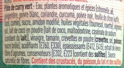 Pâre de curry vert - Ingrediënten - fr