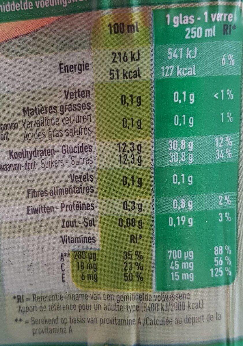 Ace - Voedingswaarden - fr